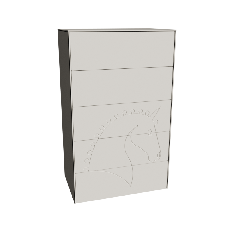 Byrå 60x100 Horse - White
