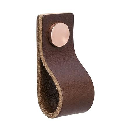 Handtag Loop dubbelvikt - läder brun